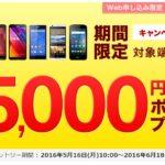 最大5,000円相当のポイントプレゼント!モバイルSuica対応『arrows RM02』購入キャンペーン!