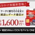 【OCNモバイルONE】月額850円で国内通話(10分間)が何度でも「かけ放題」になる定額オプションが新登場!